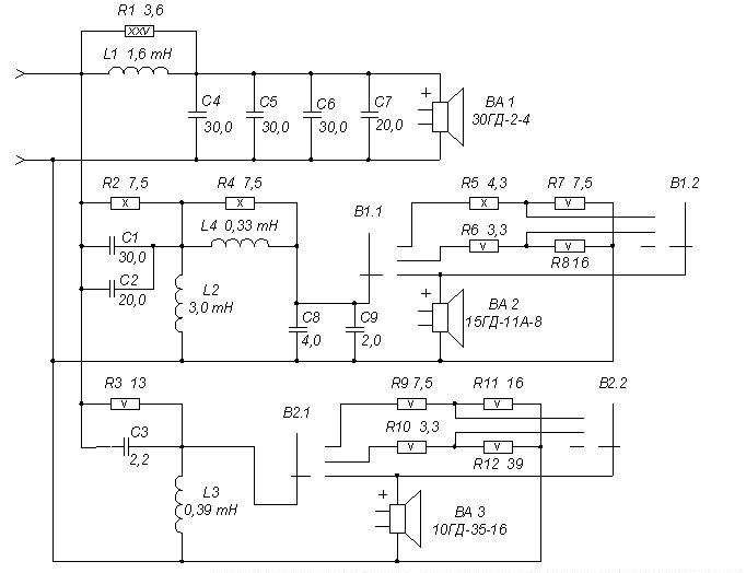 Схема фильтров акустических систем фото 696