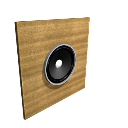 Самый простой вариант акустического оформления - акустический экран