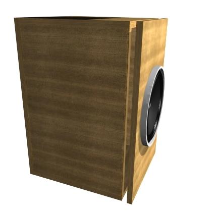 Крепление фронтальной панели акустической системы, вариант 2