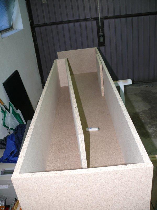 Процесс сборки вертикального рупора