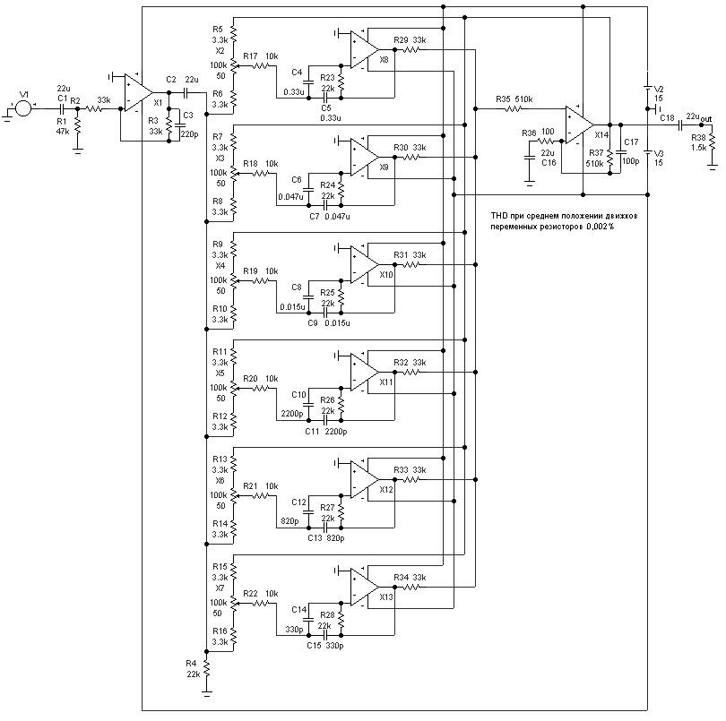 графического эквалайзера.