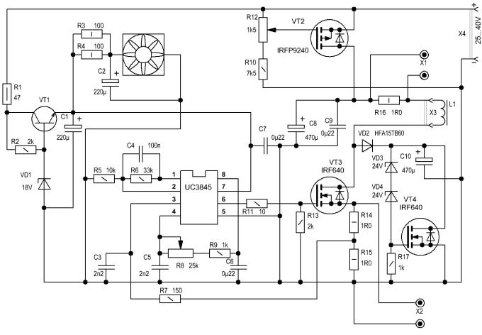 Tl3845 схема включения