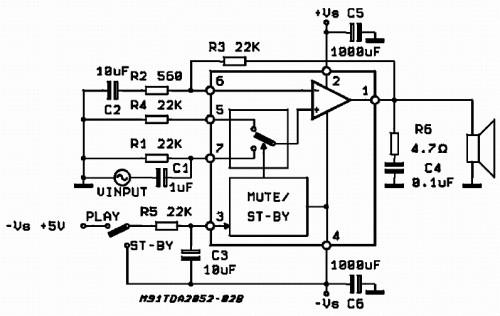 Схема включения TDA2052