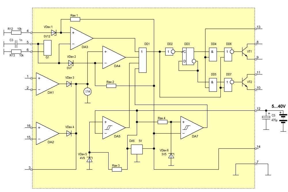 Структурная схема tl494