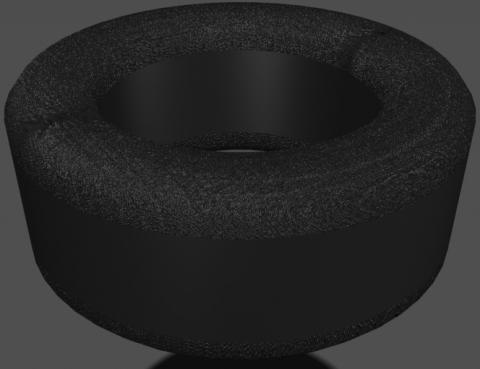 Обточка углов ферритового кольца